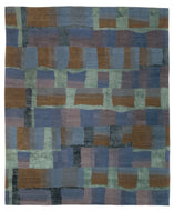 EVA H BLUEBOTTLE, a hand knotted rug designed by Tufenkian Artisan Carpets.