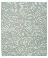 GALAXY CRYSTAL BLUE, a hand knotted rug designed by Tufenkian Artisan Carpets.
