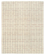 BLIPMARKS RED, a hand knotted rug designed by Tufenkian Artisan Carpets.