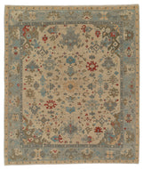 HERAT SNOW POPPY SHEARED, a hand knotted rug designed by Tufenkian Artisan Carpets.