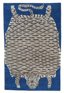 TIGER BIG BLUE, a hand knotted rug by Tufenkian Artisan Carpets