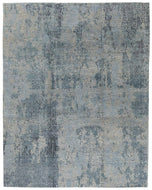 Tikal Grey Blue, a hand knotted rug designed by Tufenkian Artisan Carpets.