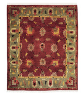 Zeytoun Mahagony Avocado is a hand knotted rug by Tufenkian Artisan Carpets