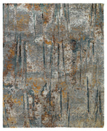 LUMINANCE RUSTY SLATE, a hand knotted rug designed by Tufenkian Artisan Carpets.