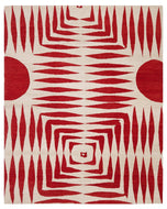 SUNRISE RED, a hand knotted rug designed by Tufenkian Artisan Carpets.