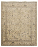 LANARK IVORY GREY, a hand knotted rug designed by Tufenkian Artisan Carpets.