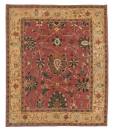 Zara Rosewood is a hand knotted rug design by Tufenkian Artisan Carpets