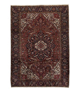 Antique Persian Heriz is a hand knotted rug
