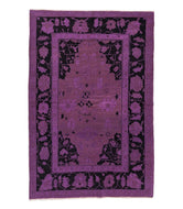 ARAGATS OVERDYE PURPLE is a hand knotted rug by Tufenkian Artisan Carpets