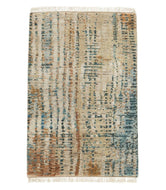 Bedaya Rust Blue 2x3, a hand knotted rug by Tufenkian Artisan Carpets