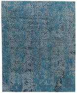 CITY LIGHTS AQUA, a hand knotted rug designed by Tufenkian Artisan Carpets.