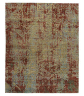 CITY LIGHTS CINNABAR, a hand knotted rug designed by Tufenkian Artisan Carpets.