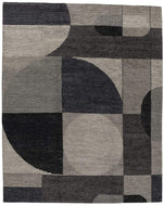 Cosmos Greyscale, a hand knotted rug designed by Tufenkian Artisan Carpets.