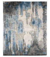 CAVERNS BLUE STEEL, a hand knotted rug designed by Tufenkian Artisan Carpets.