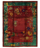 Antique Chinese Art Deco 9x12, a hand knotted rug for sale by Tufenkian Artisan Carpets