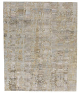Desert II Grey Gold, a hand knotted rug by Tufenkian Artisan Carpets