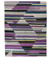 Abstract Purple Field is a hand knotted rug by Tufenkian Artisan Carpets