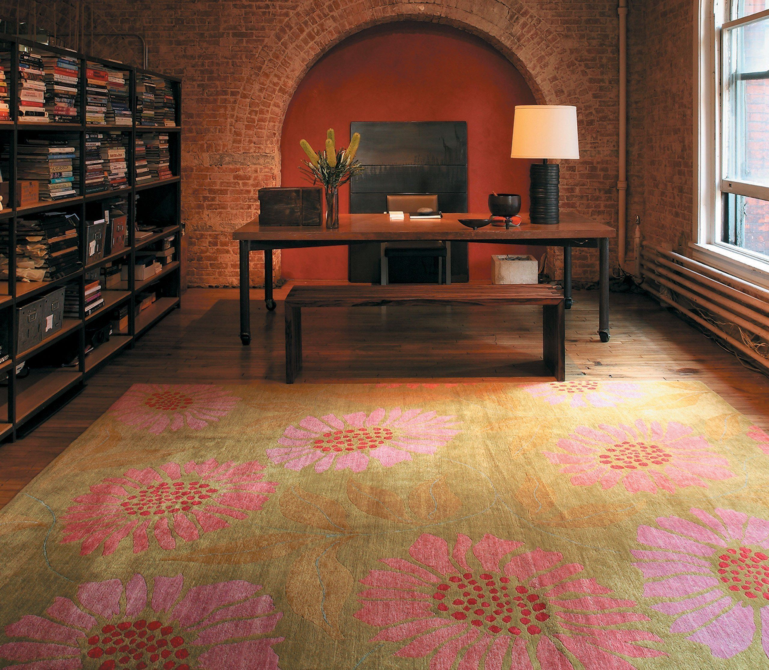installation image of FLOWER POWER PIXIE is a hand knotted rug by Tufenkian Artisan Carpets room-image
