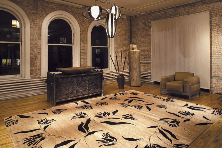 installation image of french tulips suede room-image