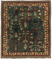 Kazak Square Rug, a hand knotted rug by Tufenkian Artisan Carpets