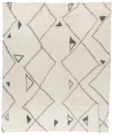 Marrakesh White Grey, a hand knotted rug designed by Tufenkian Artisan Carpets.