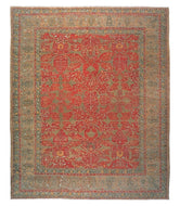 MAHABAD RUBY SHEARED, a hand knotted rug designed by Tufenkian Artisan Carpets.
