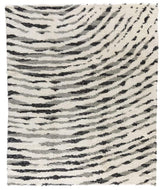Okayama White Black, a hand knotted rug designed by Tufenkian Artisan Carpets.