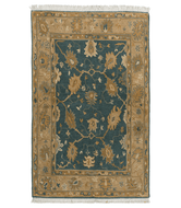 PALMETTE HAZY TEAL is a hand knotted rug by Tufenkian Artisan Carpets