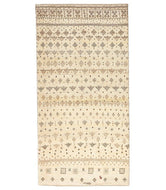 Persian gabbeh is a 3x7 hand knotted rug