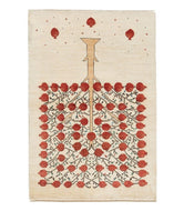 Persian Gabbeh loribaft is a 3x5 hand knotted rug