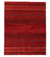 Persian gabbeh is a 5x6 hand knotted rug