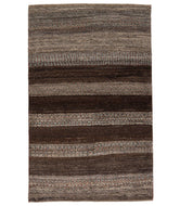 Persian gabbeh nomad is a 3x5 hand knotted rug