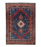 Persian gabbeh sedeh is a 10x13 hand knotted rug
