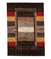 Persian gabbeh tajik is a 5x7 hand knotted rug