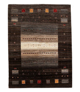 Persian gabbeh tajik is a 5x6 hand knotted rug