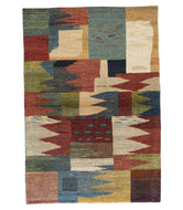 persian gabbeh tajik is a one-of-a-kind hand knotted rug