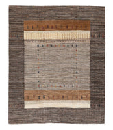 Persian gabbeh yalame is a 8x10 hand knotted rug