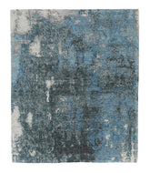 Sgraffito Midnight Blue, a hand knotted rug designed by Tufenkian Artisan Carpets.