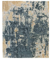 Sgraffito Obsidian Blue, a hand knotted rug designed by Tufenkian Artisan Carpets.