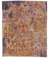 Sgraffito Papaya, a hand knotted rug designed by Tufenkian Artisan Carpets.