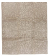 Tiara Latte, a hand knotted rug designed by Barbara Barry for Tufenkian