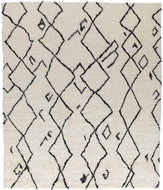 Tunis White Black, a hand knotted rug designed by Tufenkian Artisan Carpets.