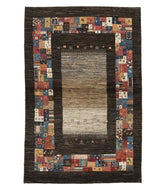 Persian gabbeh tajik is a 3x5 hand knotted rug