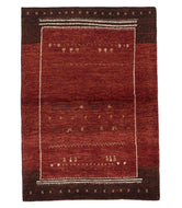 Persian gabbeh tajik is a 3x4 hand knotted rug