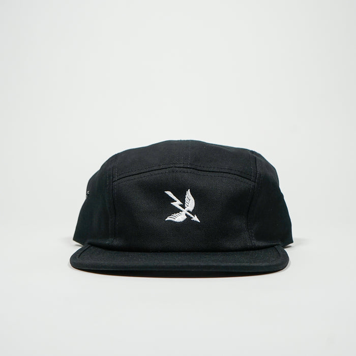 Arrow 5 Panel Cap - Black