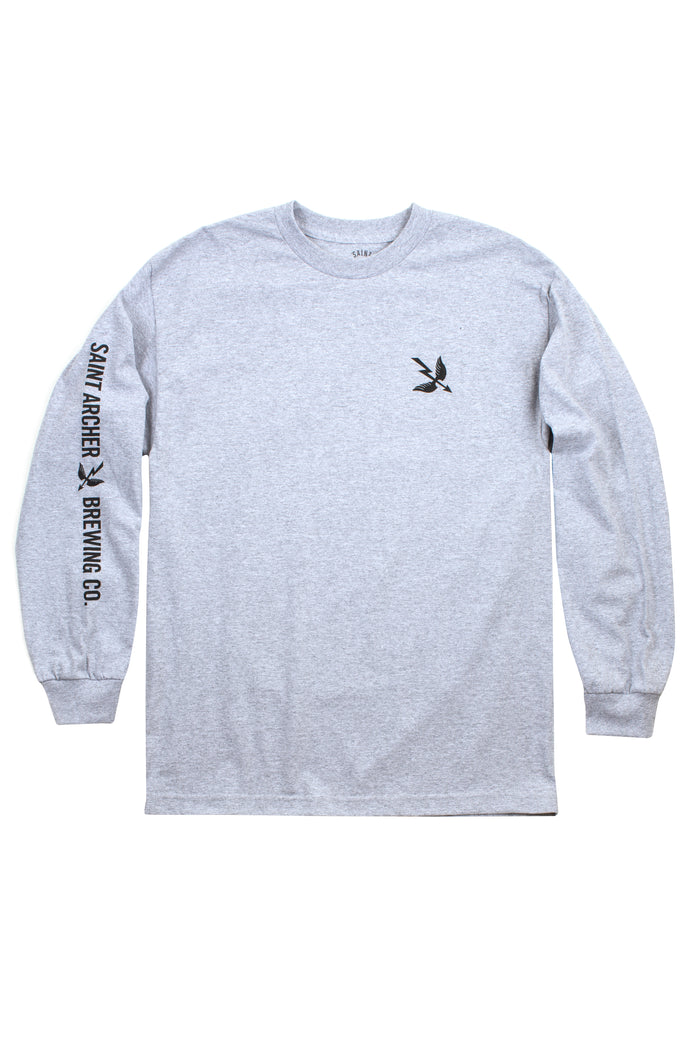 Arrow SV L/S Tee - Heather Gray