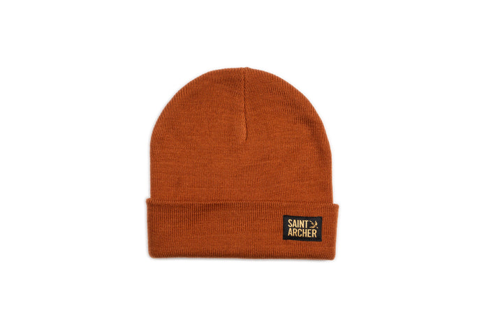 Stacked Beanie - Rust