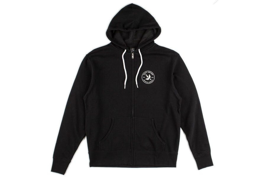 Mash Zip Up Fleece Hoodie - Black