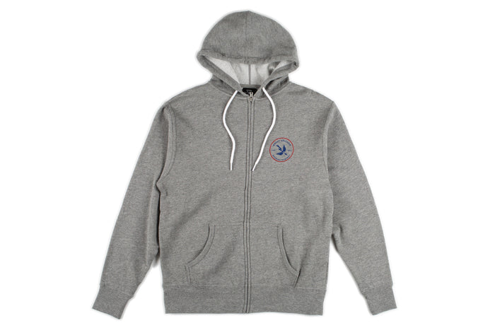Mash Zip Up Fleece Hoodie - Grey