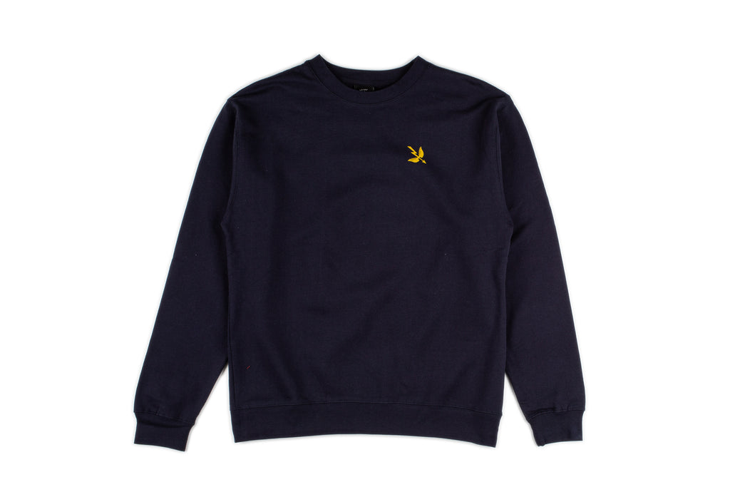 Work Hard Crewneck Sweater - Indigo